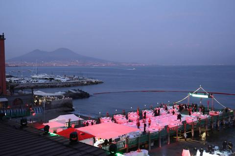 Napoli la festa di riccardo monti al bagno elena newfotosud